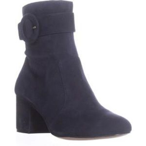 Nine West - Quilby Buckle Ankle Boots, Navy